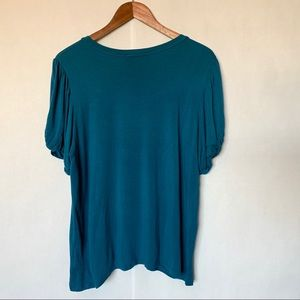 Anthropologie Tops - Anthropologie Maeve blue puff sleeved top